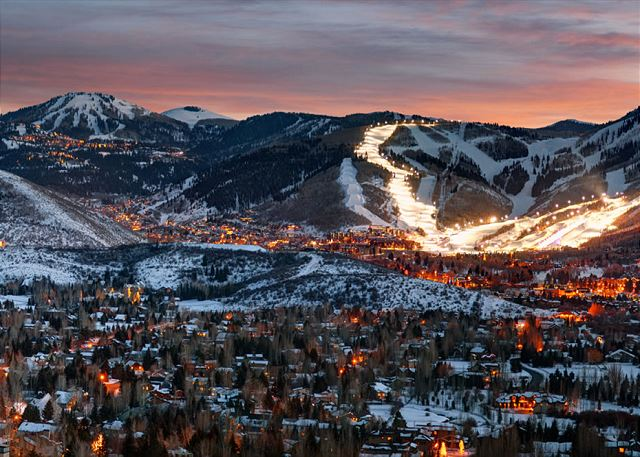 """Night Skiing"" Gorgeous Park City!"
