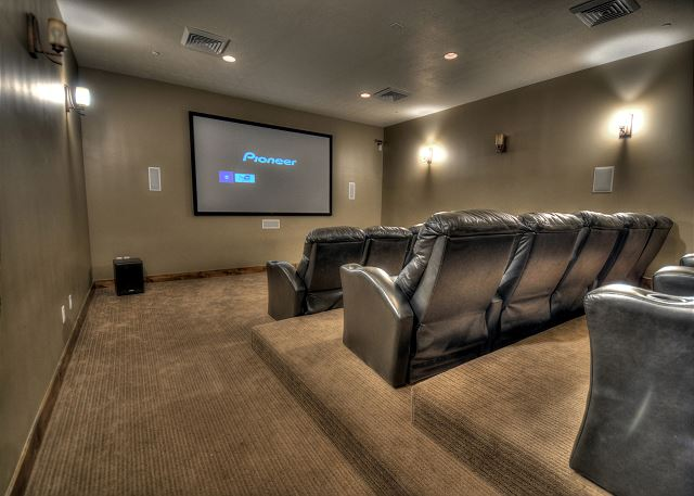 Clubhouse theater room (reservation required)