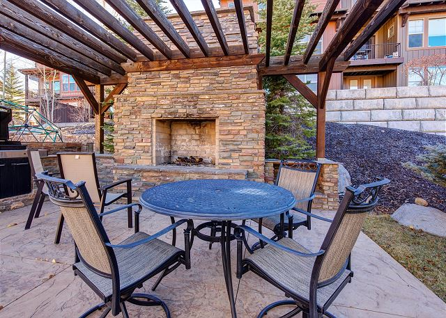 Community Outdoor Wood Burning Fire Place and BBQ Area