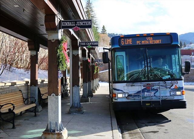 Park City's FREE Transit -Stops just outside Prospector