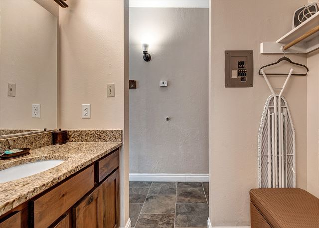 Full Bathroom with a private room for the tub/shower combo and toilet and the convenience of an Open Vanity