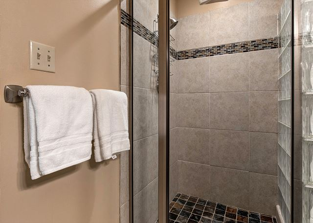 Shared Bathroom with Glass Shower