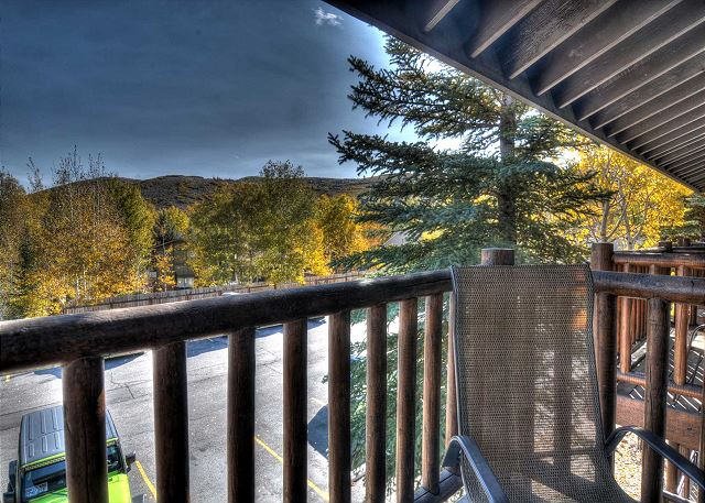 Balcony with 2 Swivel Chairs - Enjoy the Mountain Views and Fresh Air.