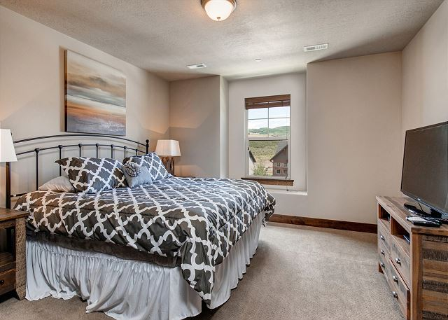Upstairs King Bedroom with TV