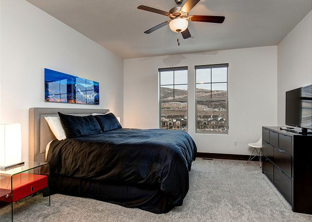 Main Level Master Bedroom w/ TV