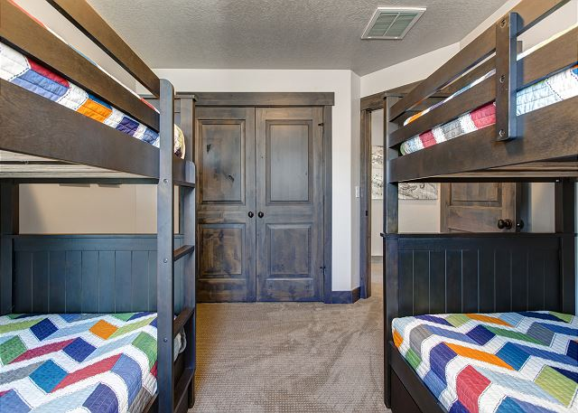 TWO twin over twin bunks