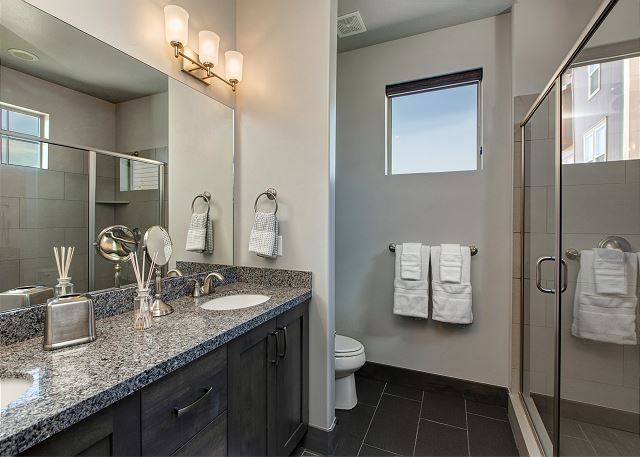 Main level master en suite bathroom