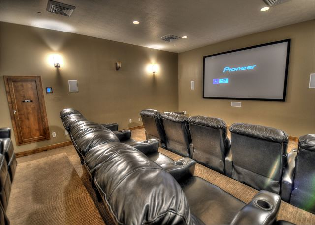 Retreat Clubhouse Theater Room