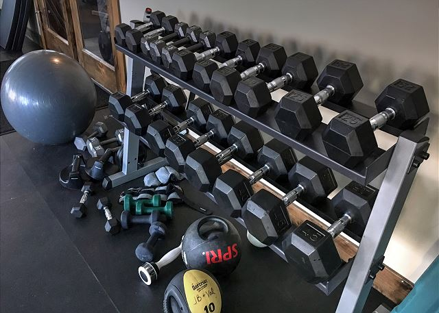 Retreat Clubhouse Fitness Room Weights