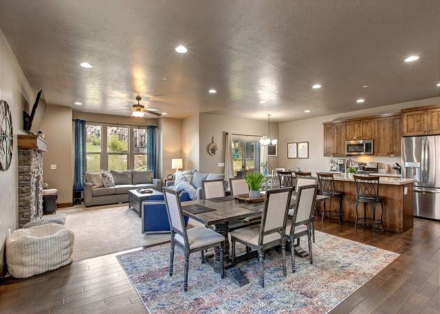 Main living area with great gathering space!