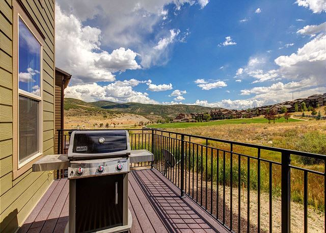 Deck with Gas BBQ and Unobstructed Mountain Views!