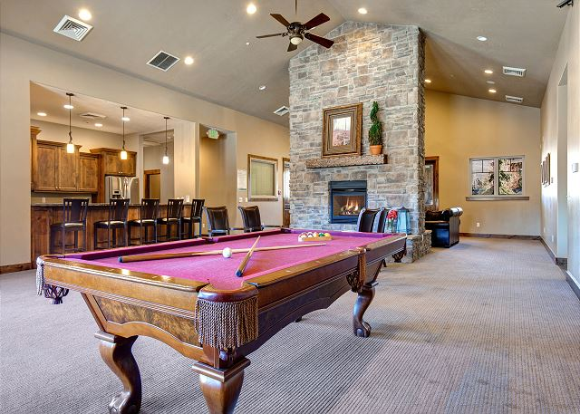 Clubhouse Main Room with Pool Table