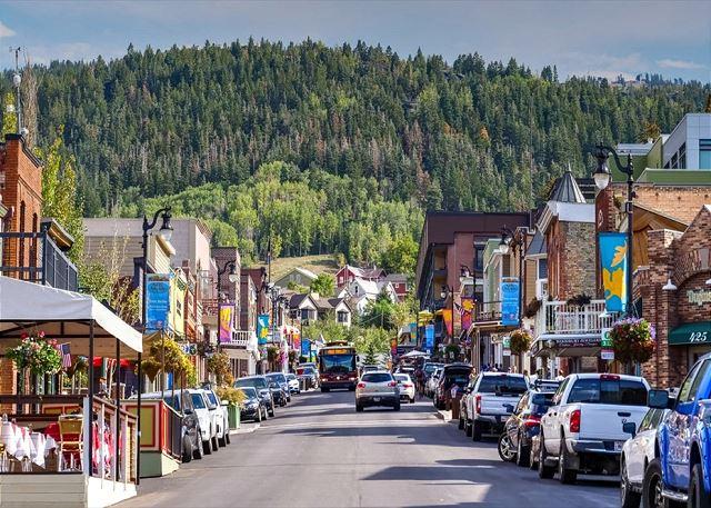 Down on Main Street in Park City, Utah