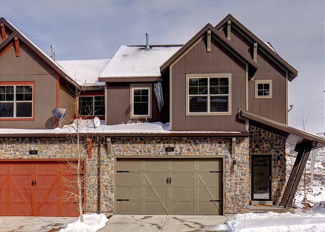 Two Car Garage and Two Car Driveway - End Unit