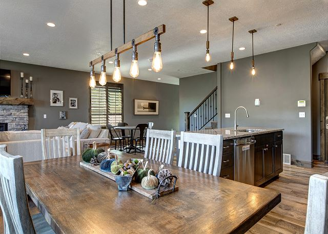 pen and Spacious Family Gathering on Main Level with Living Room