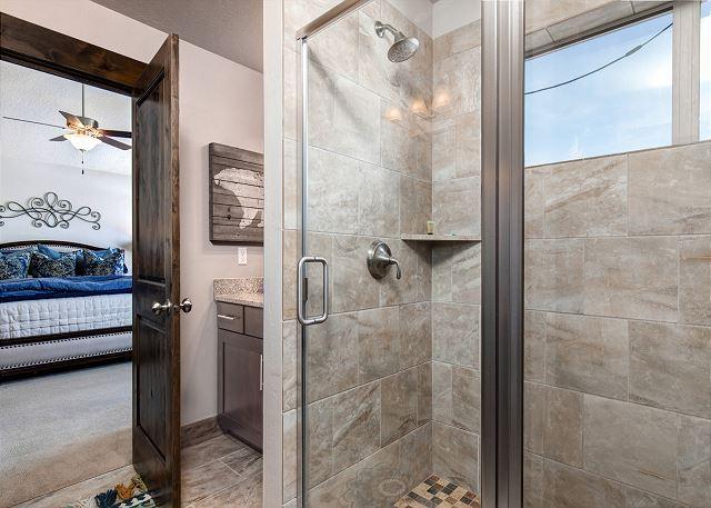 Master en suite bathroom shower
