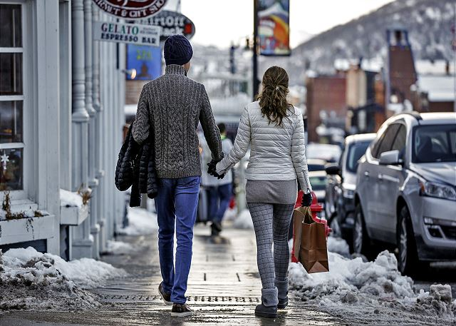 Stroll Park City's Main Street for Boutique Shopping and Delicious Dining Choices