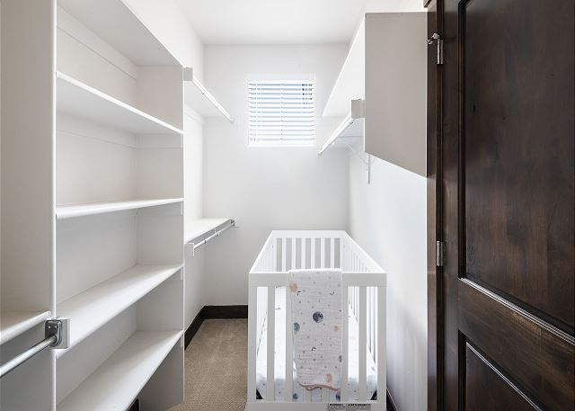 Master Walk-in Closet with Crib
