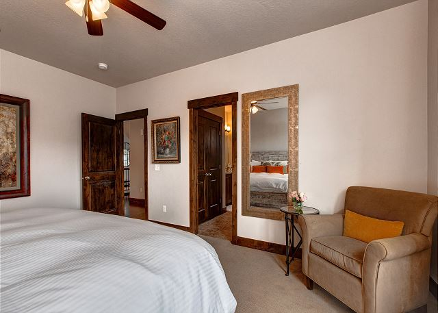 Main Level Master: King bed with en suite bathroom