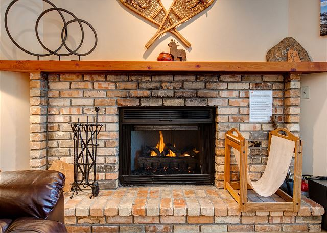 A Wood Burning Fireplace for a Crackling, Cozy Warm-up After a Day of Skiing or on a Cool Mountain Evening.