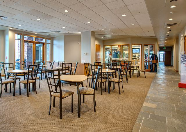 Stillwater Lodge Lobby -Dining Area and Ski Shop