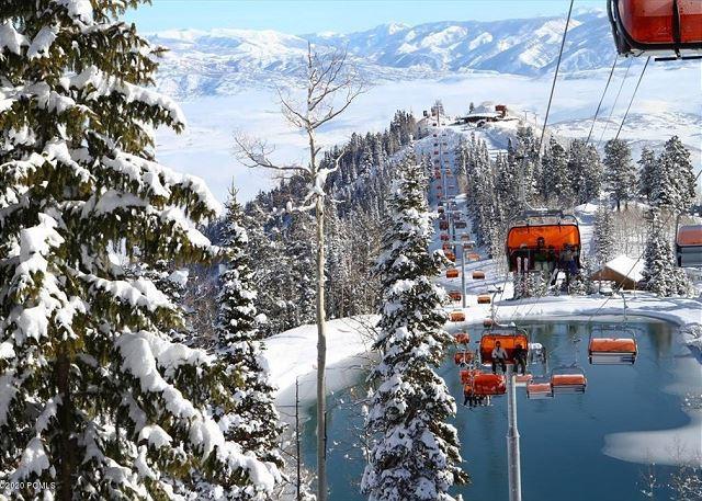 The Orange Bubble Ski Lift-Canyons Park City