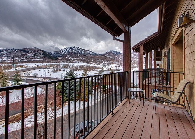 Gorgeous Deer Valley Ski Run Views from the Balcony