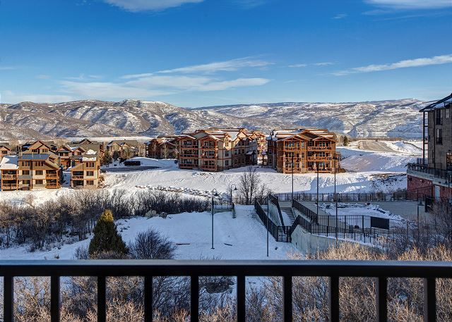 Gorgeous Ski Mountain and Lake Views from the Balcony