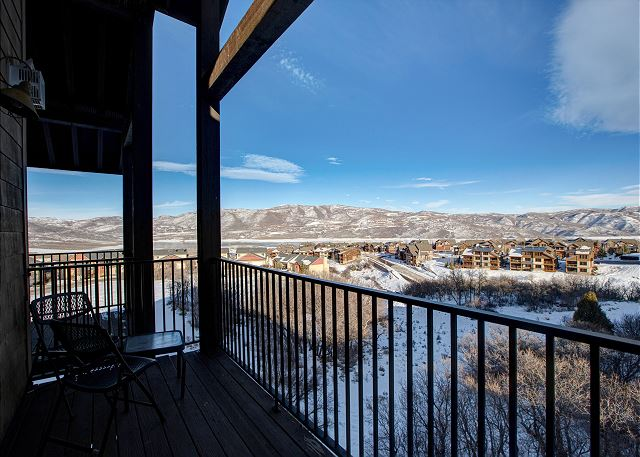 Gorgeous Views from this Top Floor Balcony at the Stillwater Lodge
