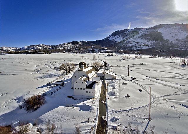 "The McPolin Farm "" The White Barn"" - Historic Park City Utah"
