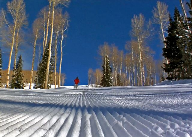 """Perfectly Groomed Slopes at the Park City Mountain Resort. 'The Greatest Snow on Earth"""""""