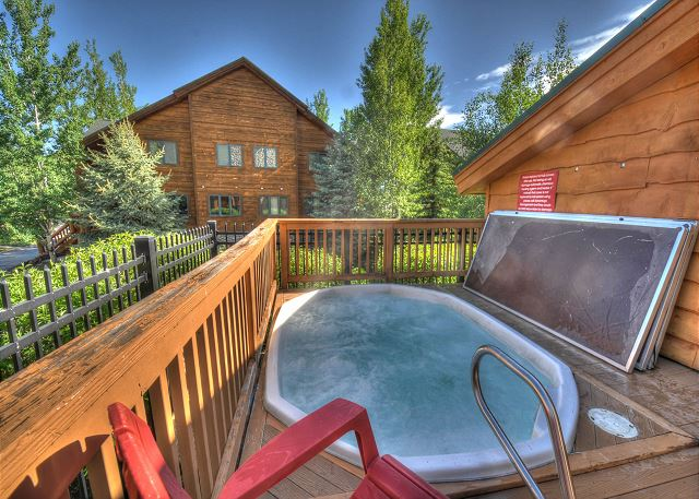 Two Large Hot Tub just steps from the condo