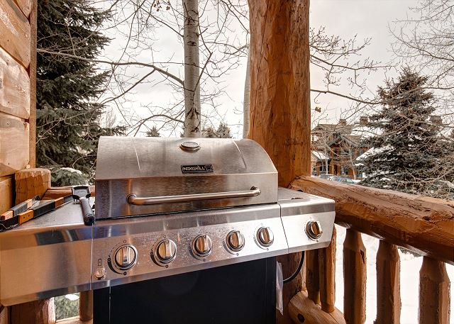 Deck with NEW BBQ