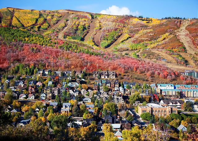 Park City with gorgeous Fall colors