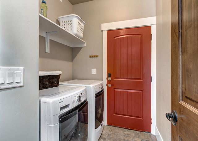 HE full-size washer and dryer