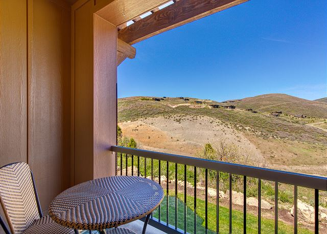 Balcony off Main Level with Mountain Views and BBQ