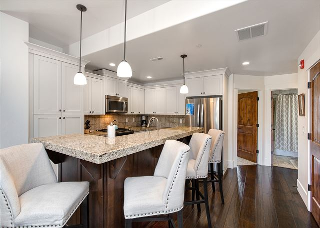 Fully Equipped Kitchen!  All you need for cooking and a great space to enjoy meals, snacks, etc.