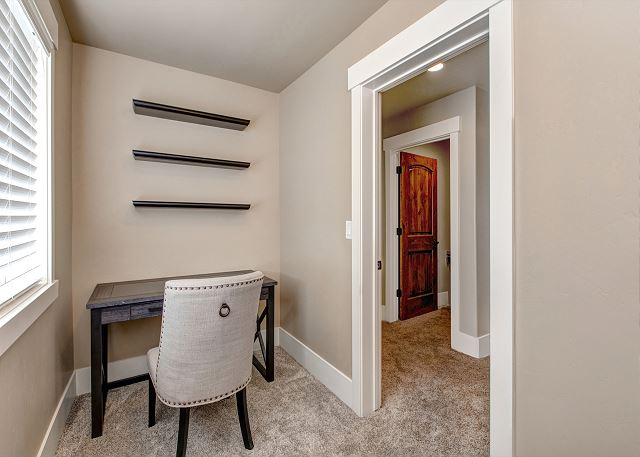 Upstairs private master office