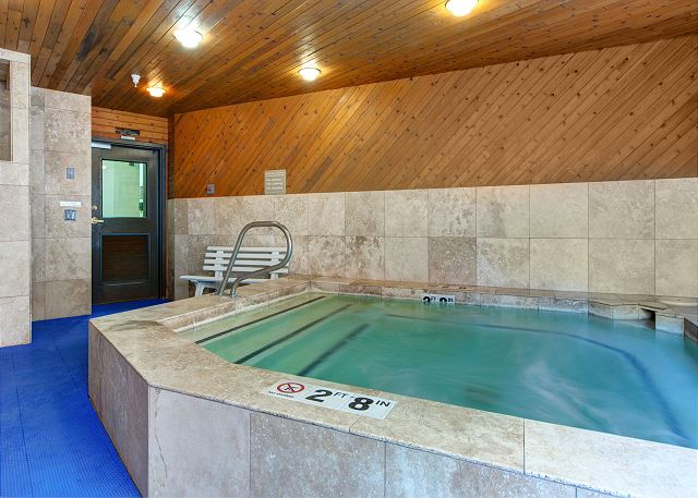Carriage House Condos Hot Tub - Indoors and Open All Year