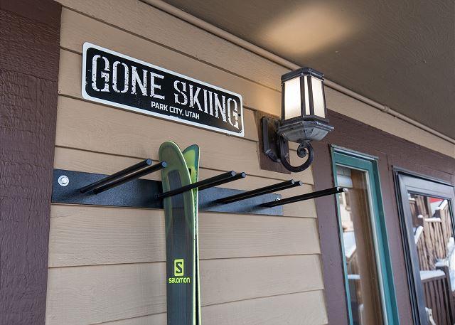 Home exterior - Ski rack