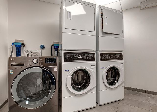 This laundry room is just a few doors down from unit 406 and is FREE to use.