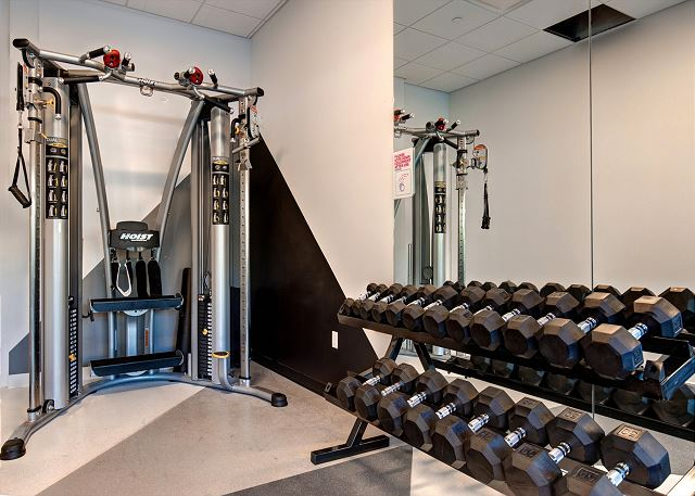 Fitness Room: Work it out and sweat it out with cardio equipment, Kinesis Fitness Wall, a yoga studio/ball area, and steam room.