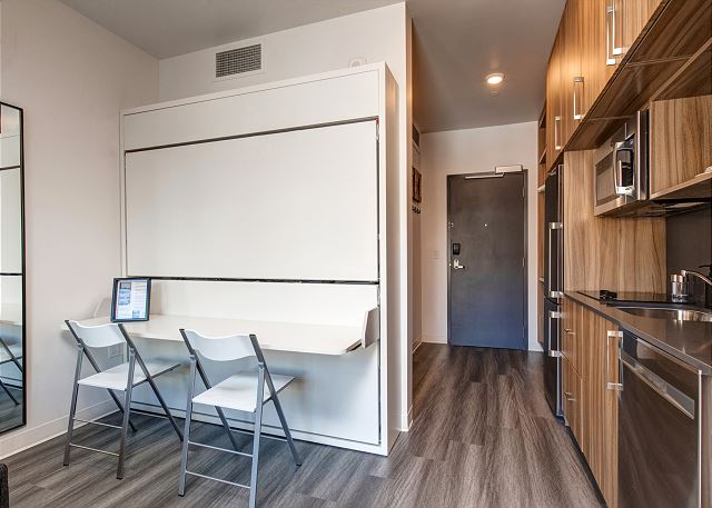 What you see is what you get! Don't get run through a room rotation. Unit 406 has added amenities and set up for the best in comfort and convenience.