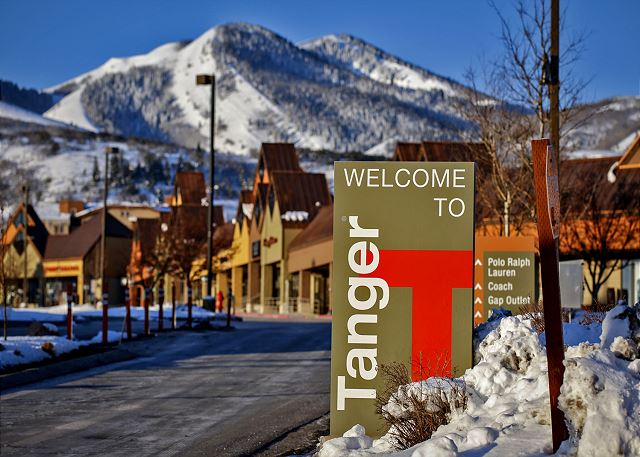 Great deals can be found at the Tanger Outlet in Park City.