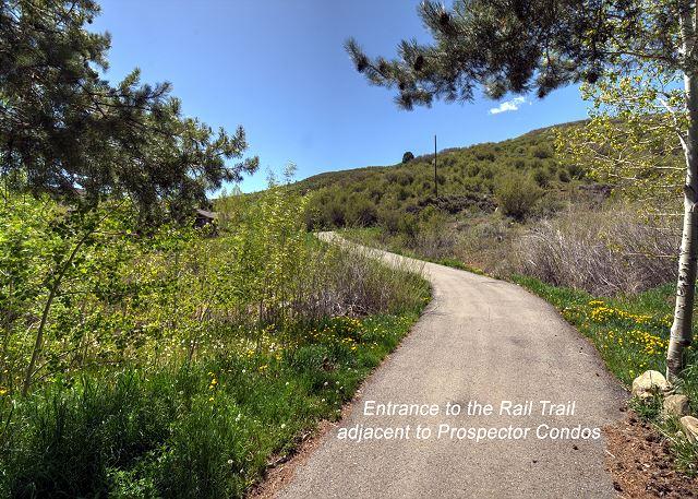 Rail trail for hiking, biking and snow shoeing