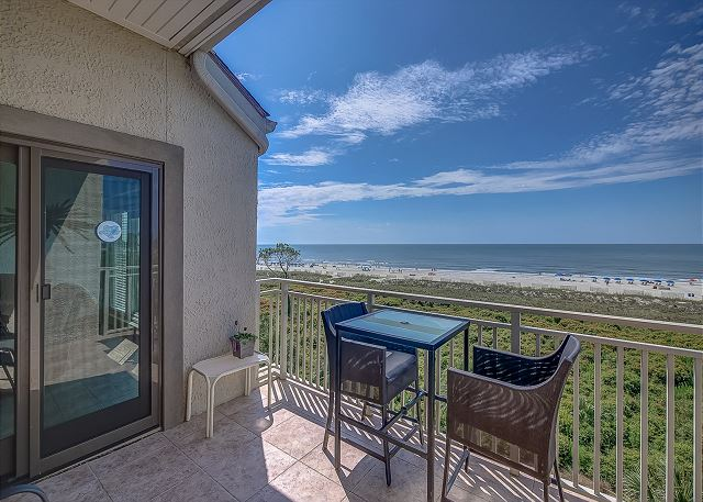 Patio from Oceanfront King Suite & Living Area