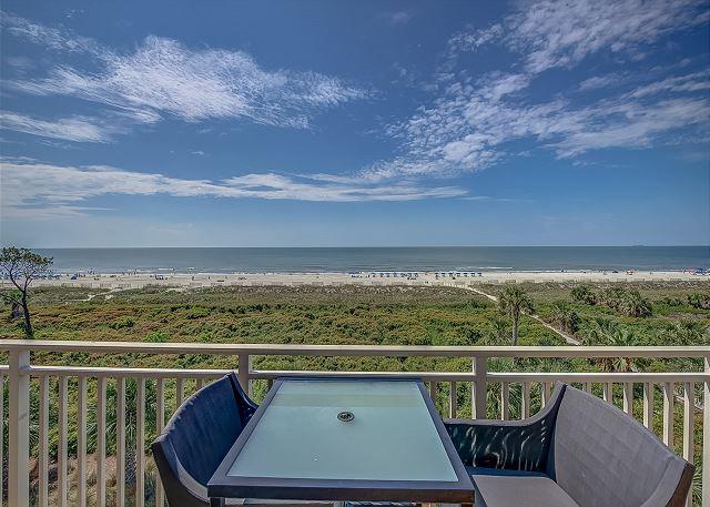 View from Living Area & Oceanfront King Suite Bedroom Patio