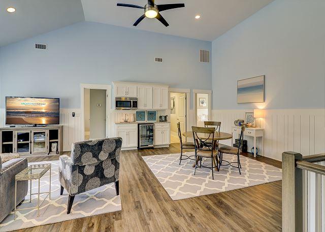 2nd Floor Living Area w/ Mini Kitchen