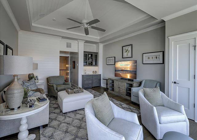 2nd Floor Living Area w/ Wet Bar