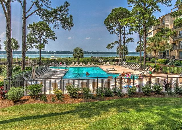 1832 Beachside Tennis - Pool Area - HiltonHeadRentals.com